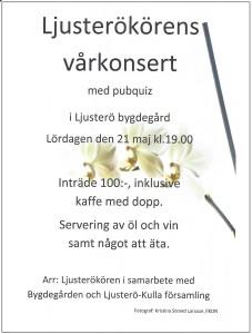 Affisch Ljusterökörens Vårkonsert