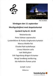 Affisch musikgudstjänst 11 sep