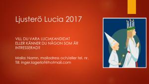 Affisch Ljusterö Lucia 2017