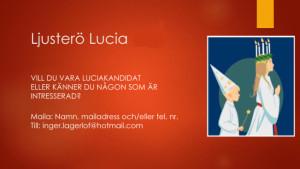 Ljusterö Lucia